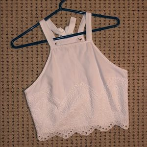 Abercrombie & Fitch White tank top